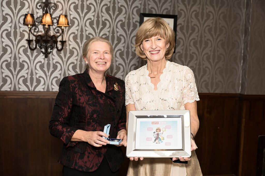 Left to right: Eveline Sipido of the European Academy of Neurology and Audrey Craven, Past President of EFNA.