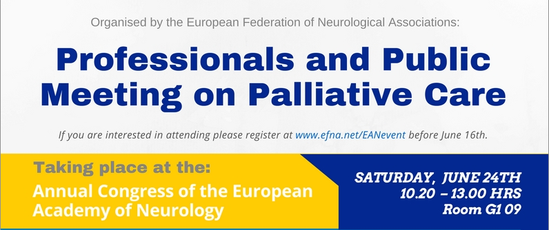 EFNA to host Professionals and Public Event on Palliative Care at
