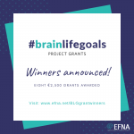 8 PROJECTS SELECTED TO RECEIVE #BRAINLIFEGOALS PROJECT GRANTS