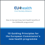 10 Guiding Principles for the European Commission's new health programme