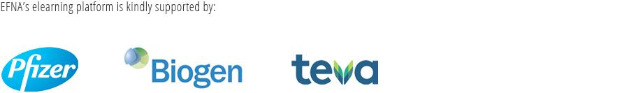 EFNA's elearning platform is kindly supported by Pfizer, Biogen and TEVA
